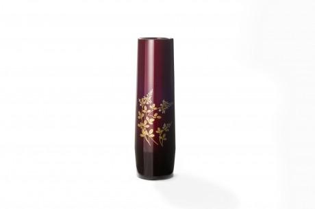 玉虫塗 胴張花瓶 小 赤 萩