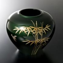 玉虫塗 金胎花瓶 7寸