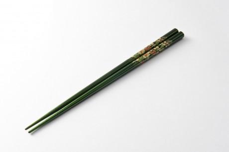 玉虫塗 一膳箸 緑