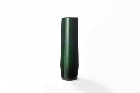 玉虫塗 胴張花瓶 小 緑